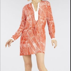 BCBG MAX AZRIA RUNWAY LAVA COMBO LAURYN DRESS